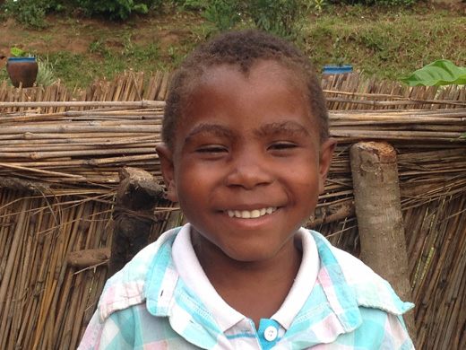 A beaming smile from Yamikani, aged 6